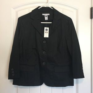 GAP Black Button Down Blazer Size 14 NWT